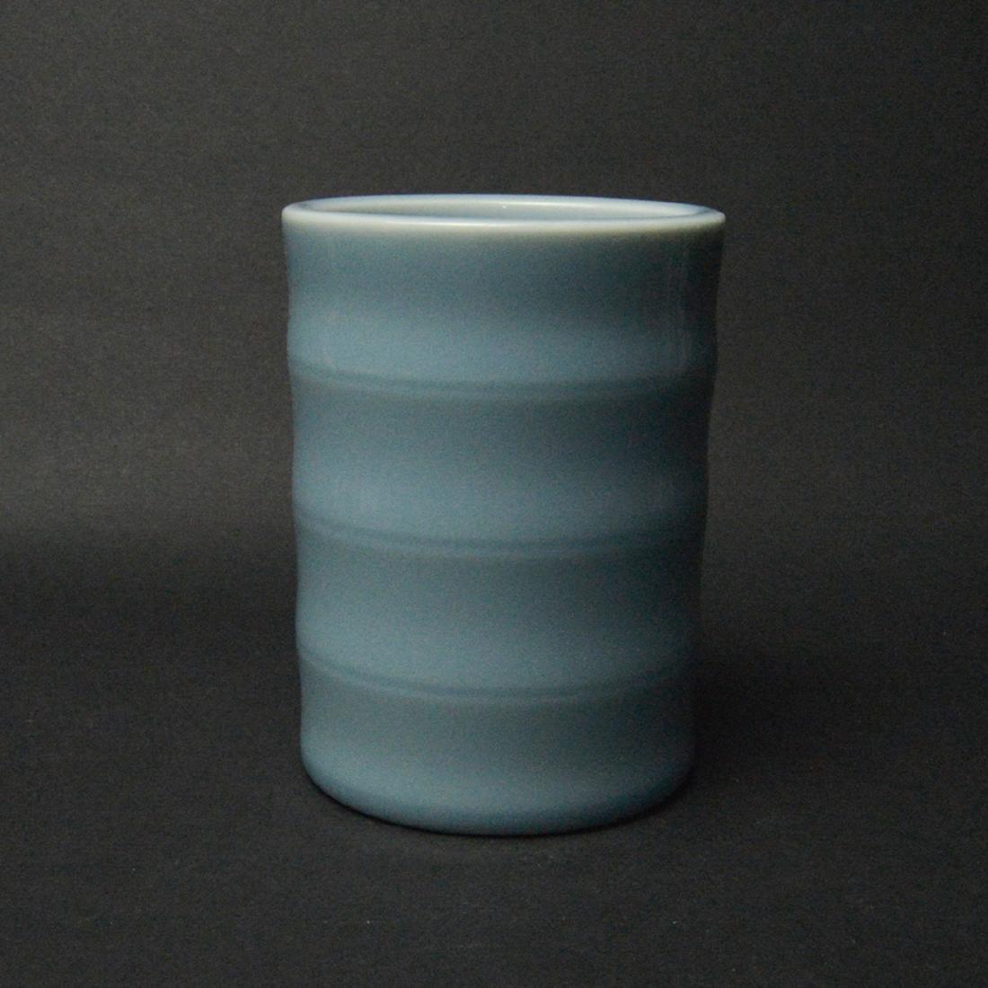 CHINESE BLUE GLAZED BRUSH POT