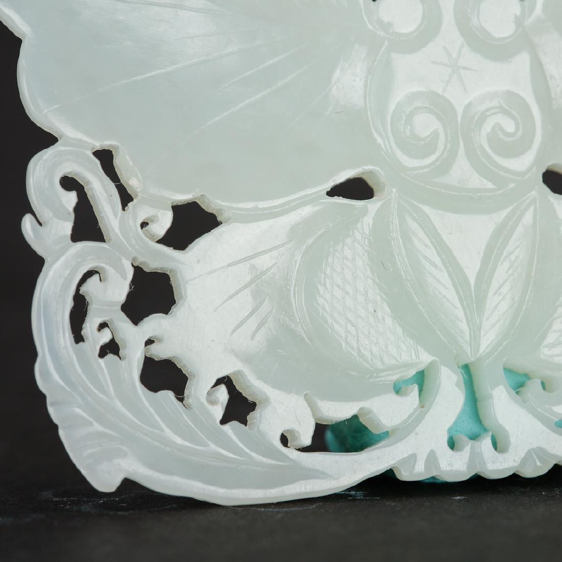CHINESE WHITE JADE PENDANTS, TWO - 4