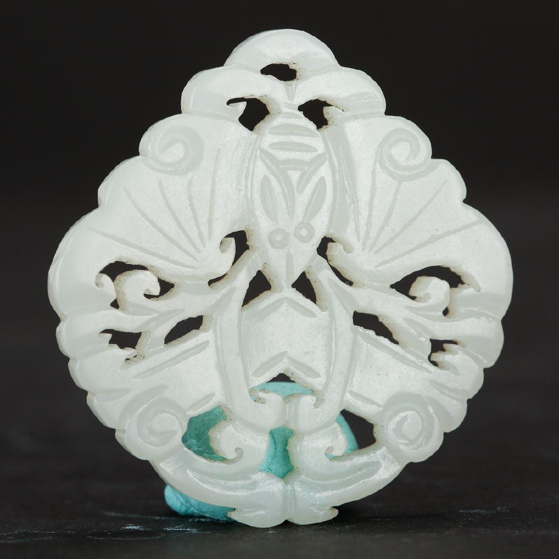 CHINESE WHITE JADE PENDANTS, TWO - 6