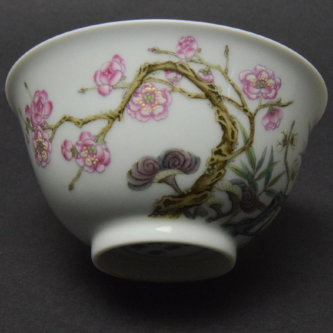 CHINESE FAMILLE ROSE PORCELAIN CUP - 5