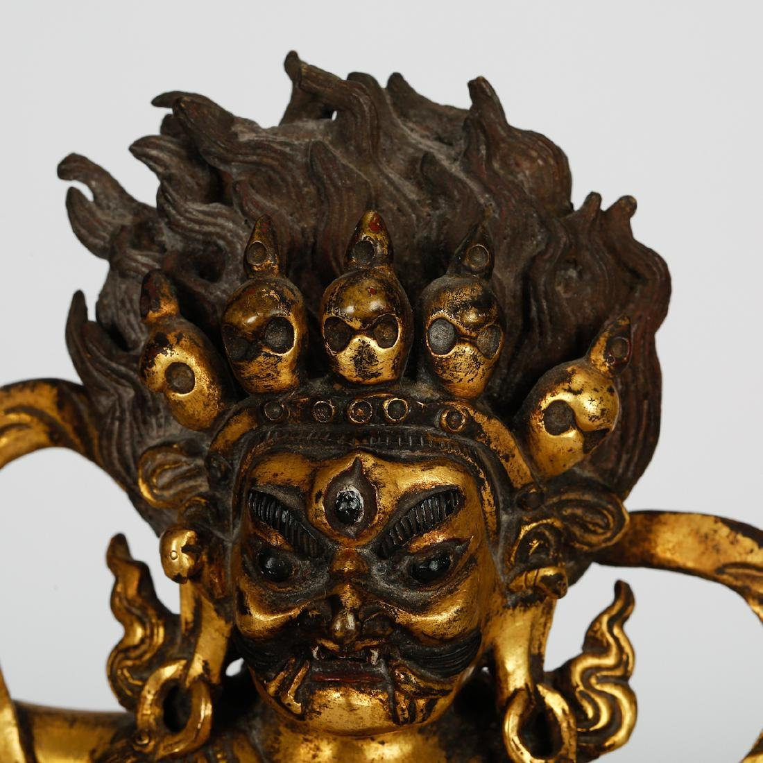 CHINESE GILT BRONZE PALDEN LHAMO - 2