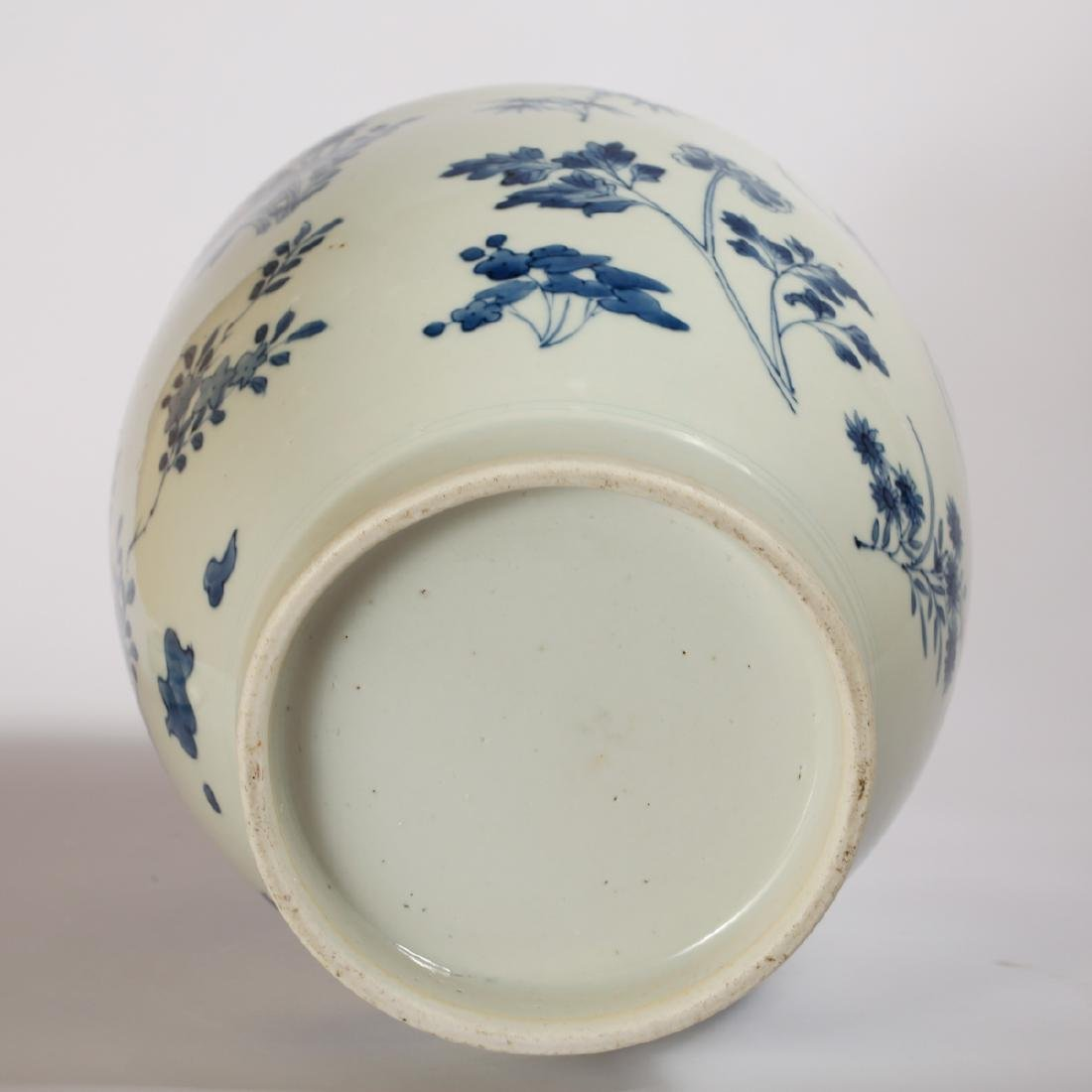 CHINESE BLUE AND WHITE COVER JAR - 7