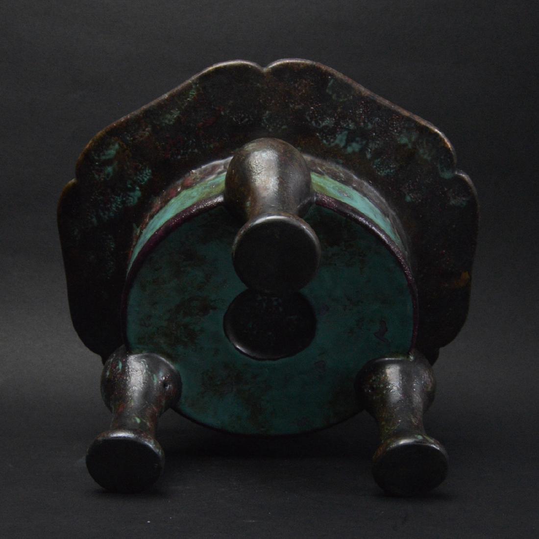 CHINESE ROBIN'S EGG GLAZED PORCELAIN CENSER - 5