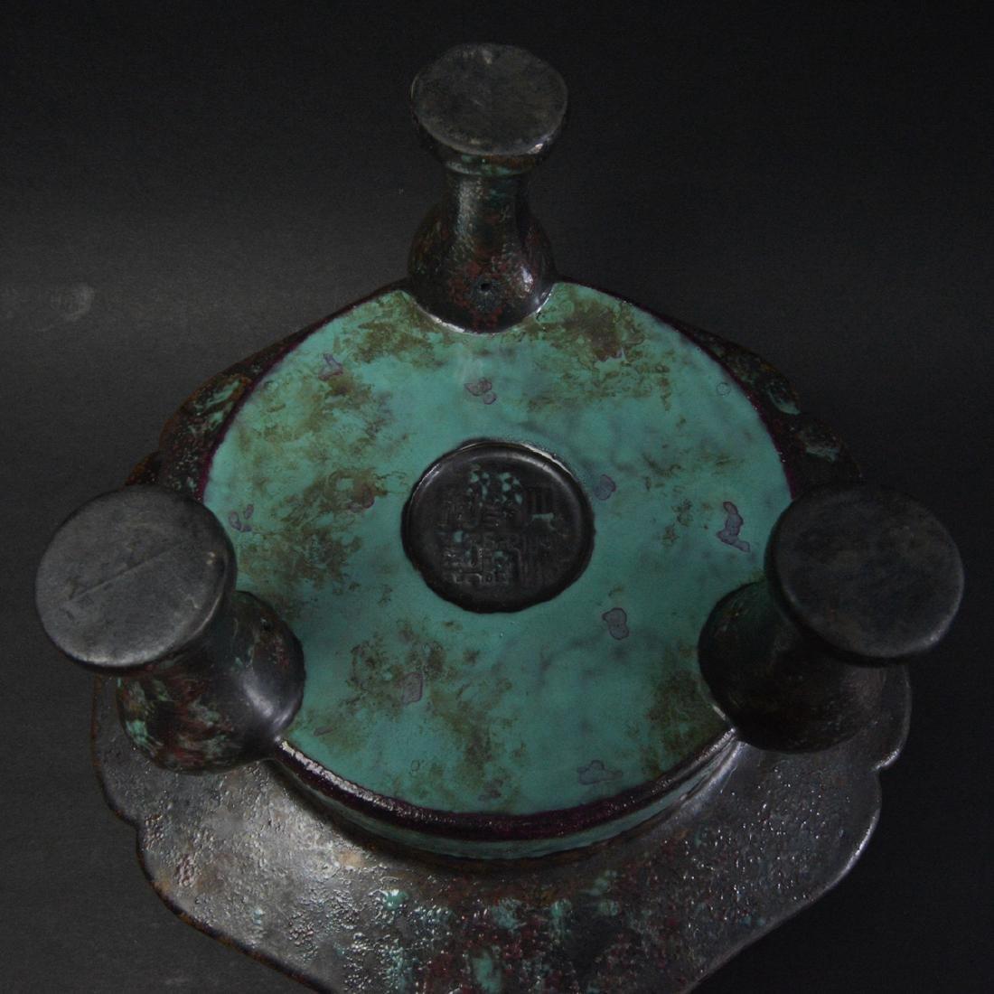 CHINESE ROBIN'S EGG GLAZED PORCELAIN CENSER - 6