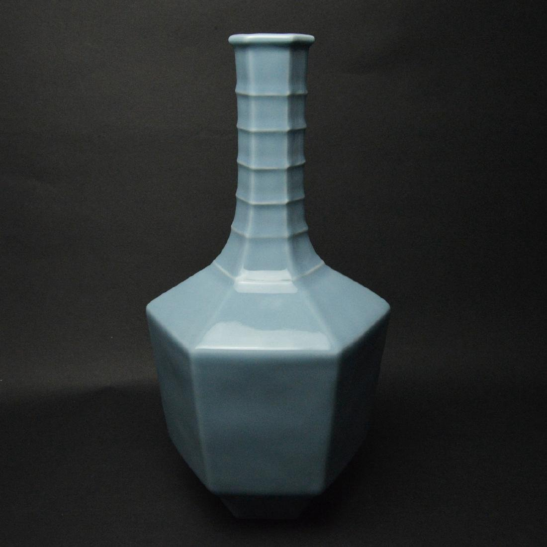 CHINESE BLUE GLAZED PORCELAIN VASE