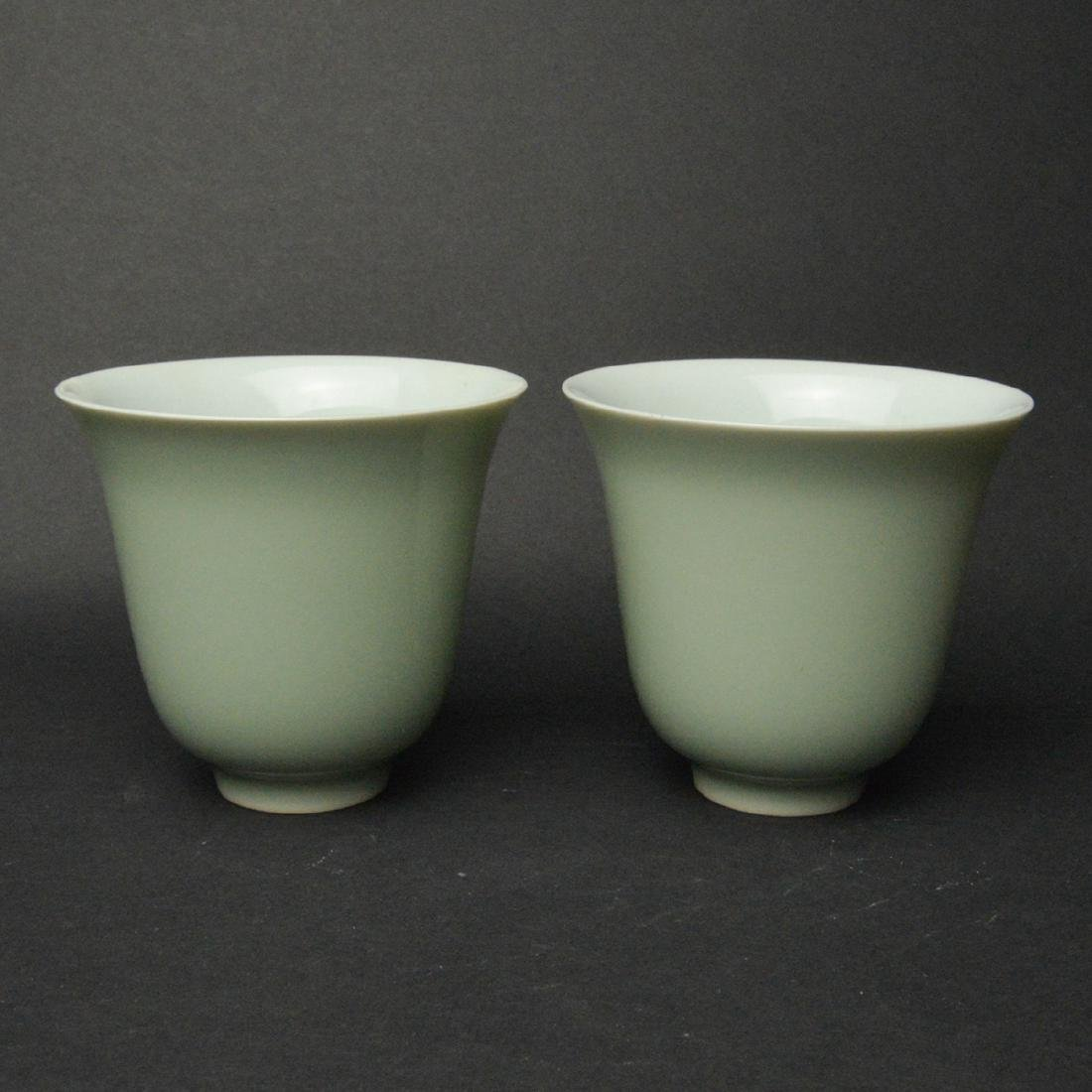 CHINESE PORCELAIN CUPS, PAIR