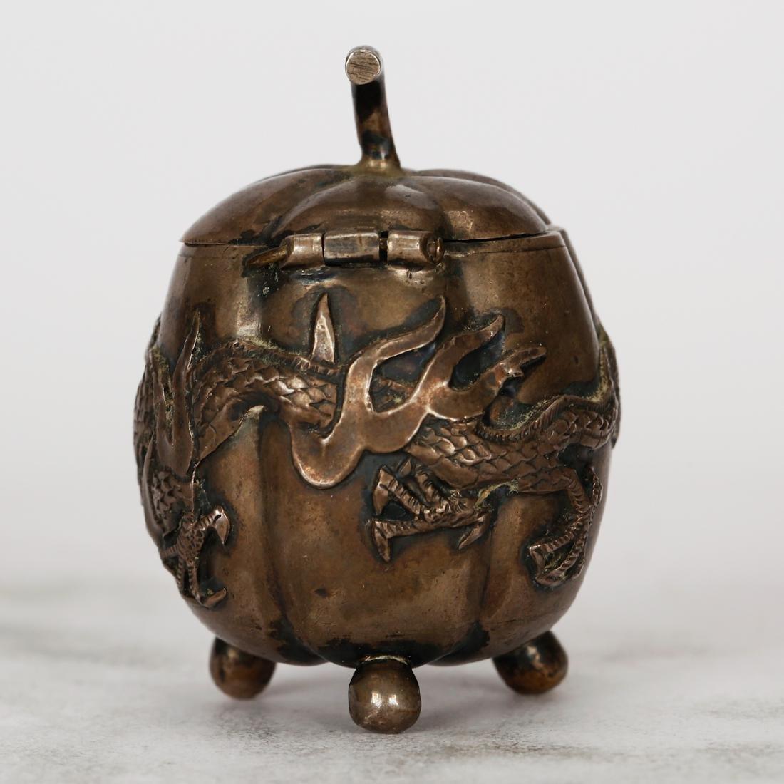 CHINESE SILVER JAR - 4