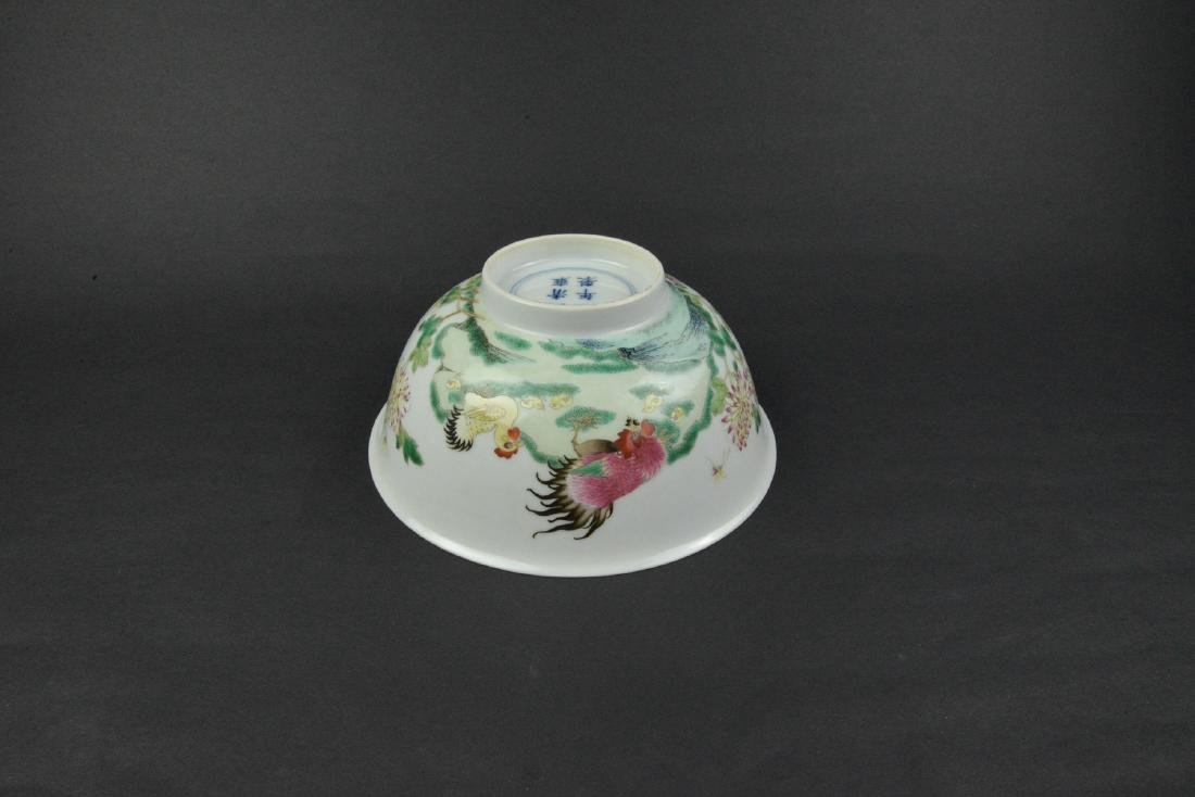 CHINESE FAMILLE ROSE PORCELAIN BOWL - 5