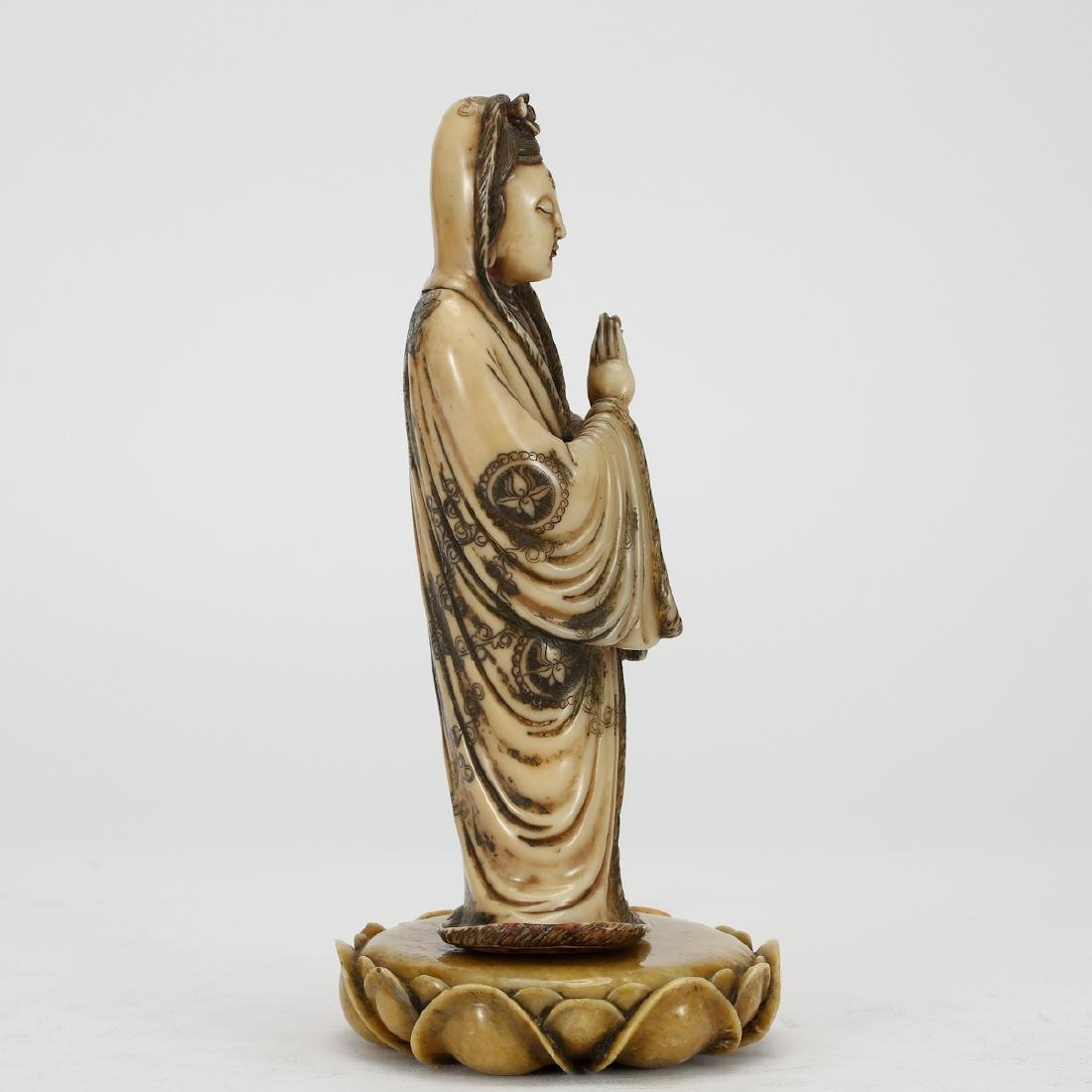 CHINESE SOAPSTONE CARVED GUANYIN - 2