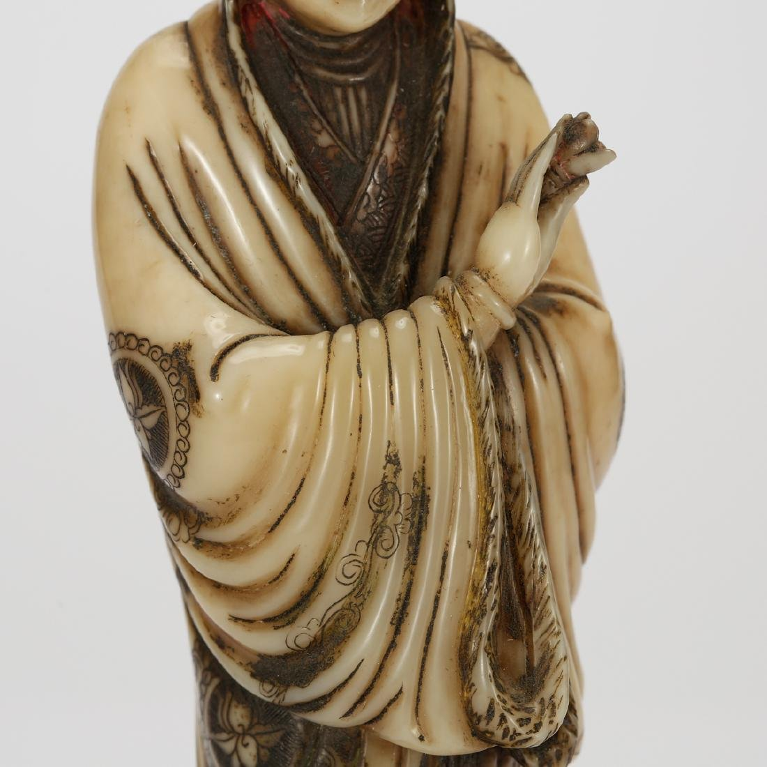CHINESE SOAPSTONE CARVED GUANYIN - 6