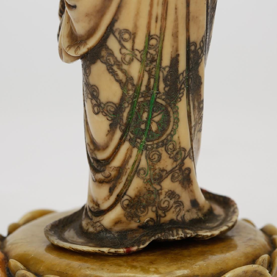 CHINESE SOAPSTONE CARVED GUANYIN - 7