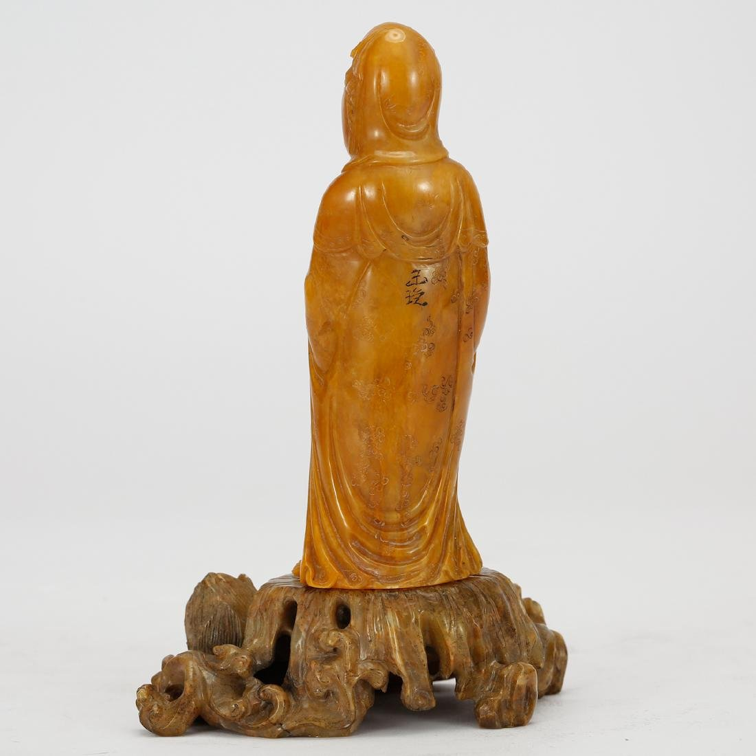 CHINESE SOAPSTONE CARVED GUANYIN - 4