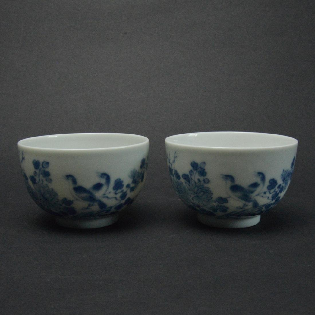 CHINESE BLUE AND WHITE PORCELAIN CUPS