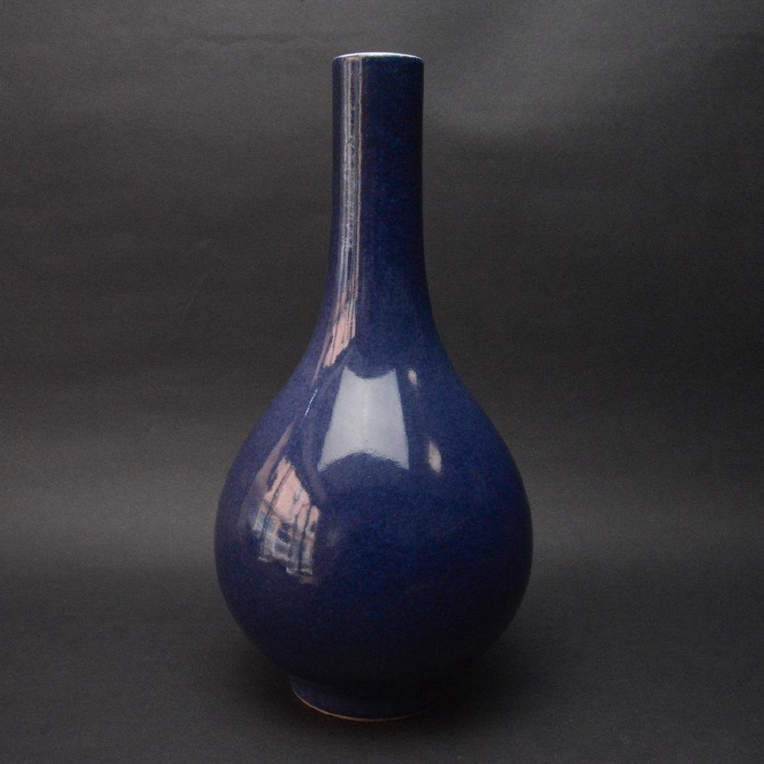 CHINESE BLUE GLAZED PORCELAIN VASE