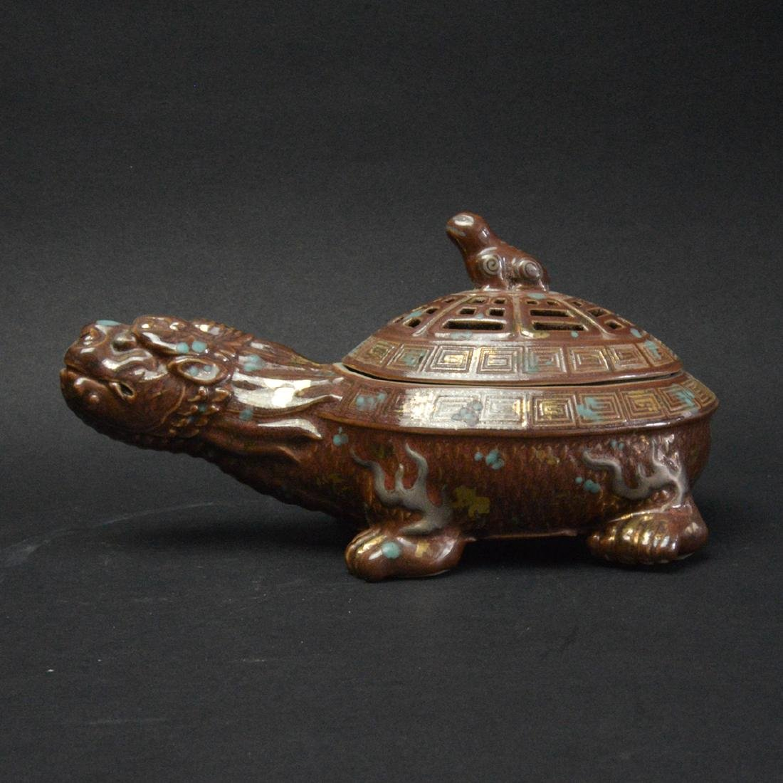 CHINESE PORCELAIN TURTLE CENSER