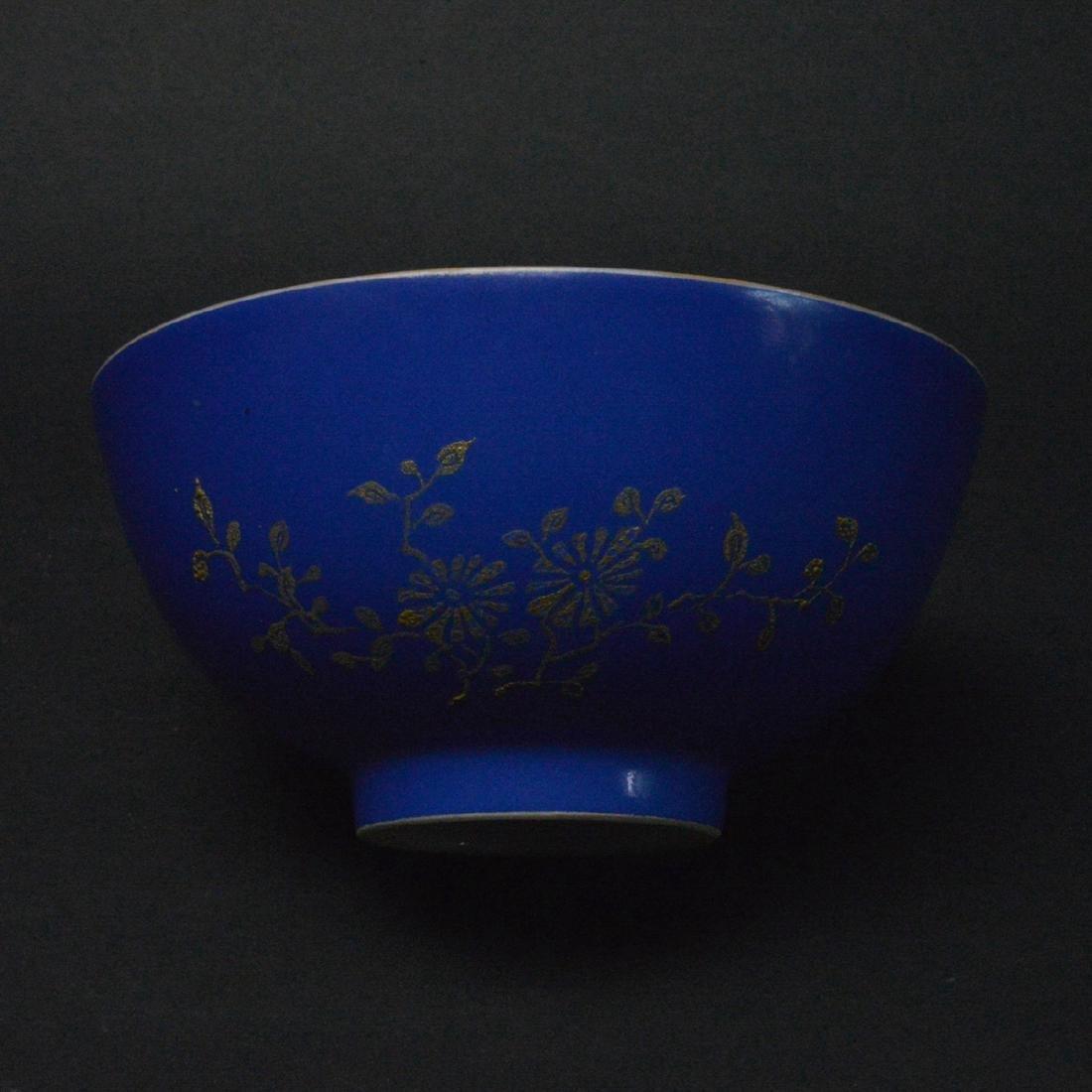 CHINESE BLUE PORCELAIN BOWL - 3