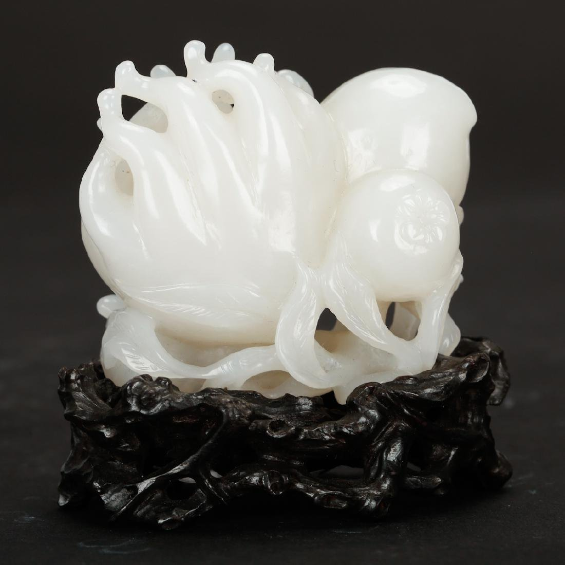 CHINESE WHITE JADE CARVED FINGER CITRON - 2