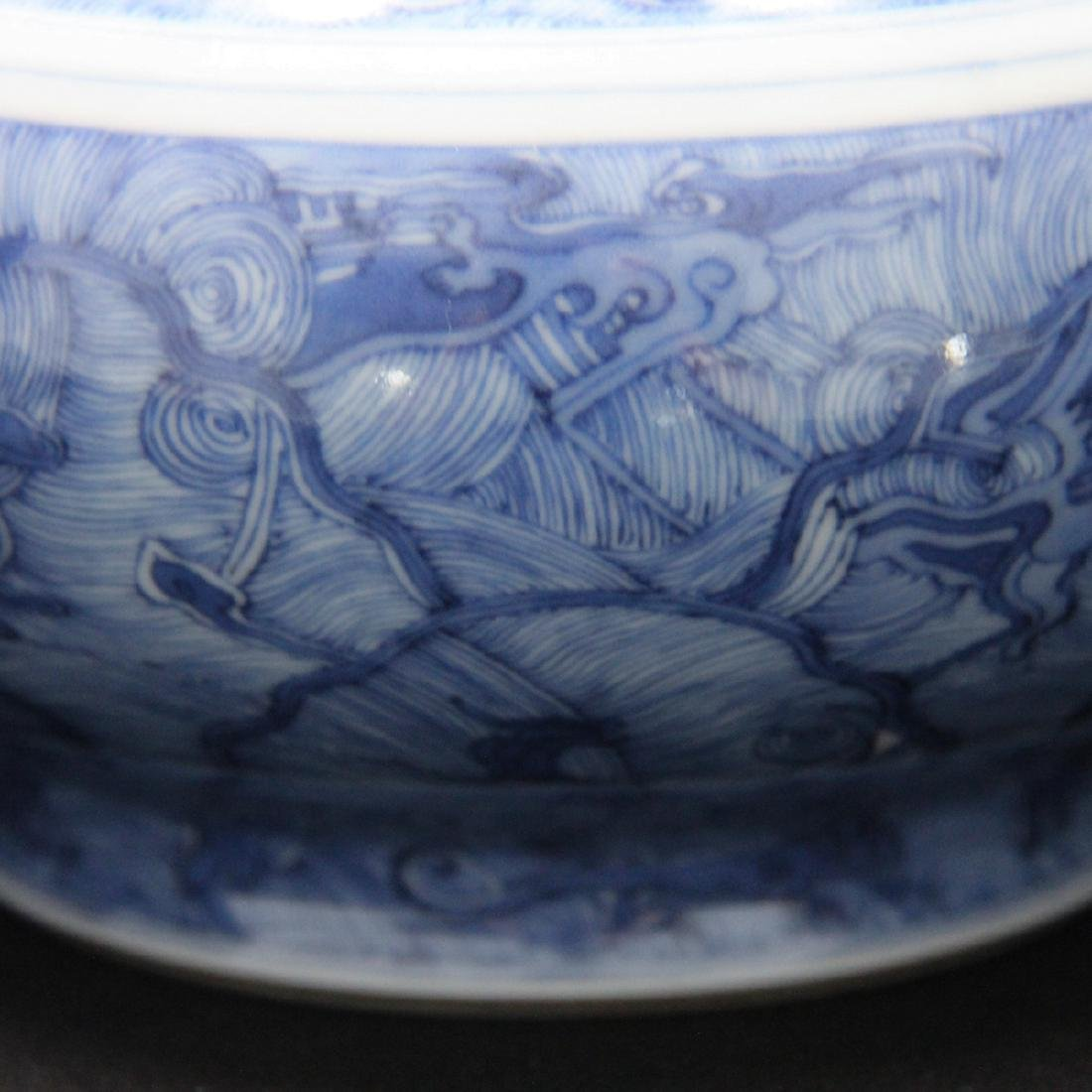 CHINESE BLUE AND WHITE GARLIC HEAD VASE - 3