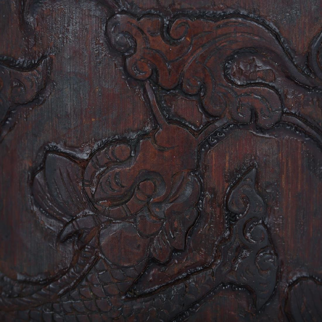 CHINESE BAMBOO CARVED BRUSH POT - 3