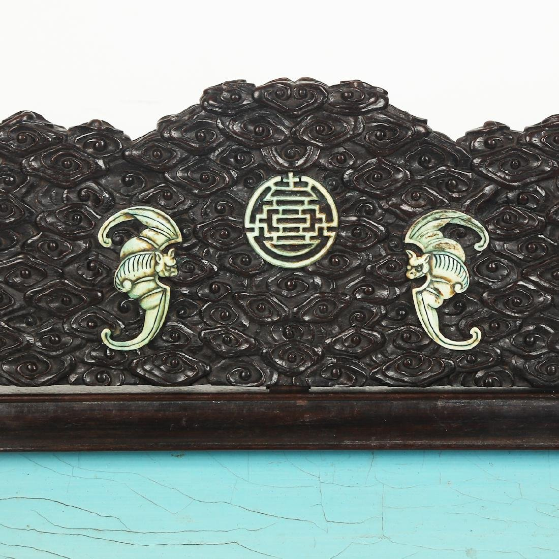CHINESE HARDWOOD TABLE SCREEN WITH INLAID - 3