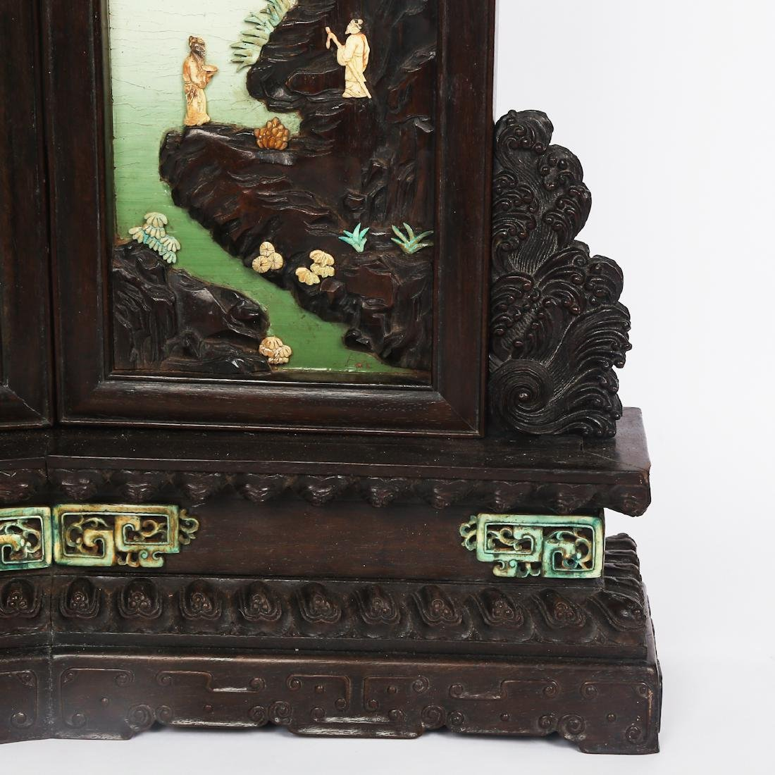CHINESE HARDWOOD TABLE SCREEN WITH INLAID - 8
