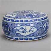 CHINESE BLUE WHITE PORCELAIN STOOL