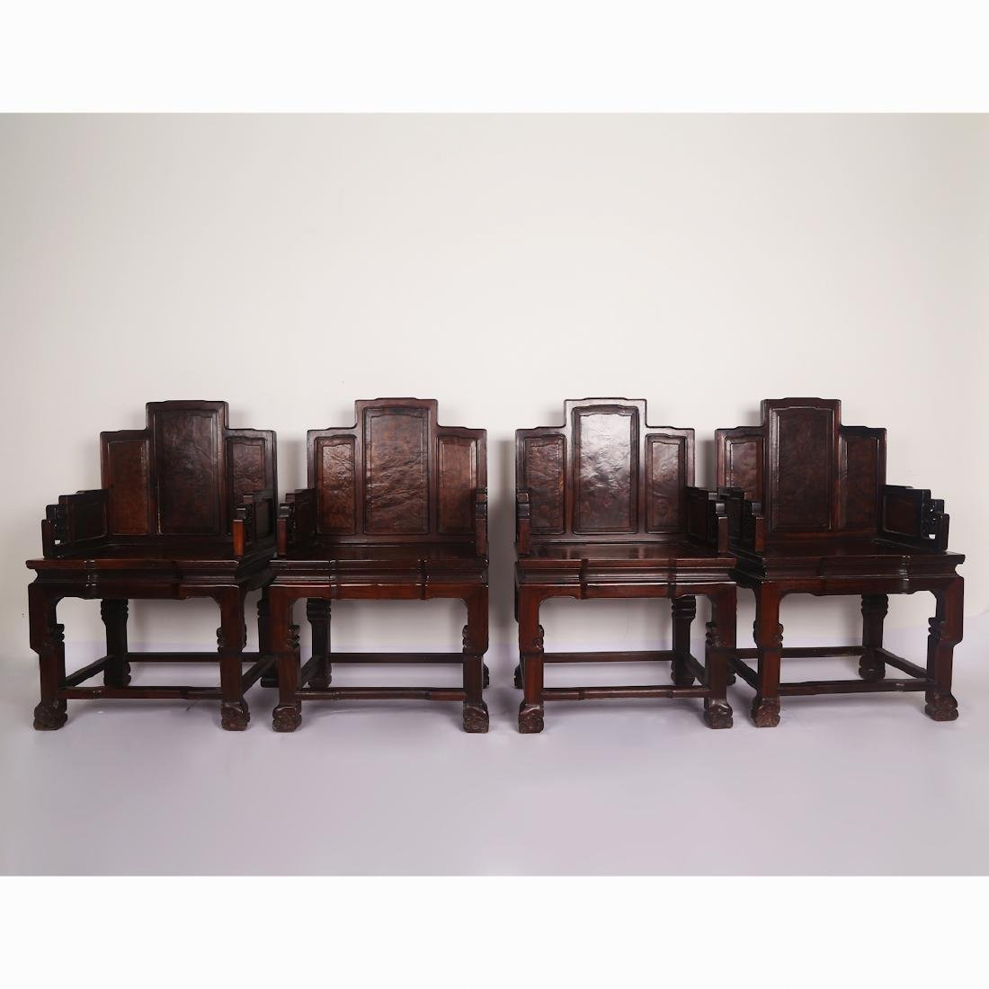 CHINESE ROSEWOOD CHAIR SET