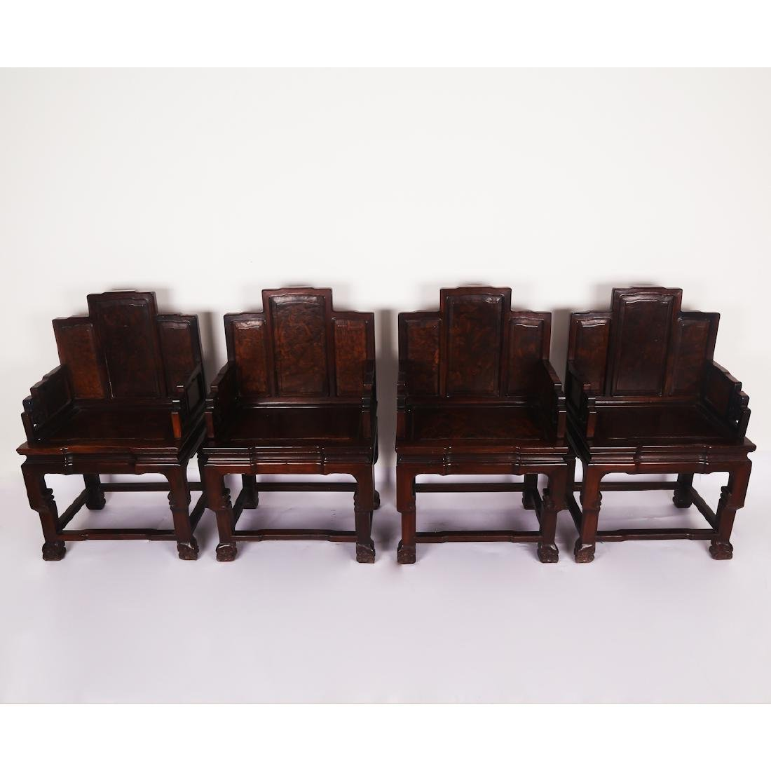 CHINESE ROSEWOOD CHAIR SET - 2