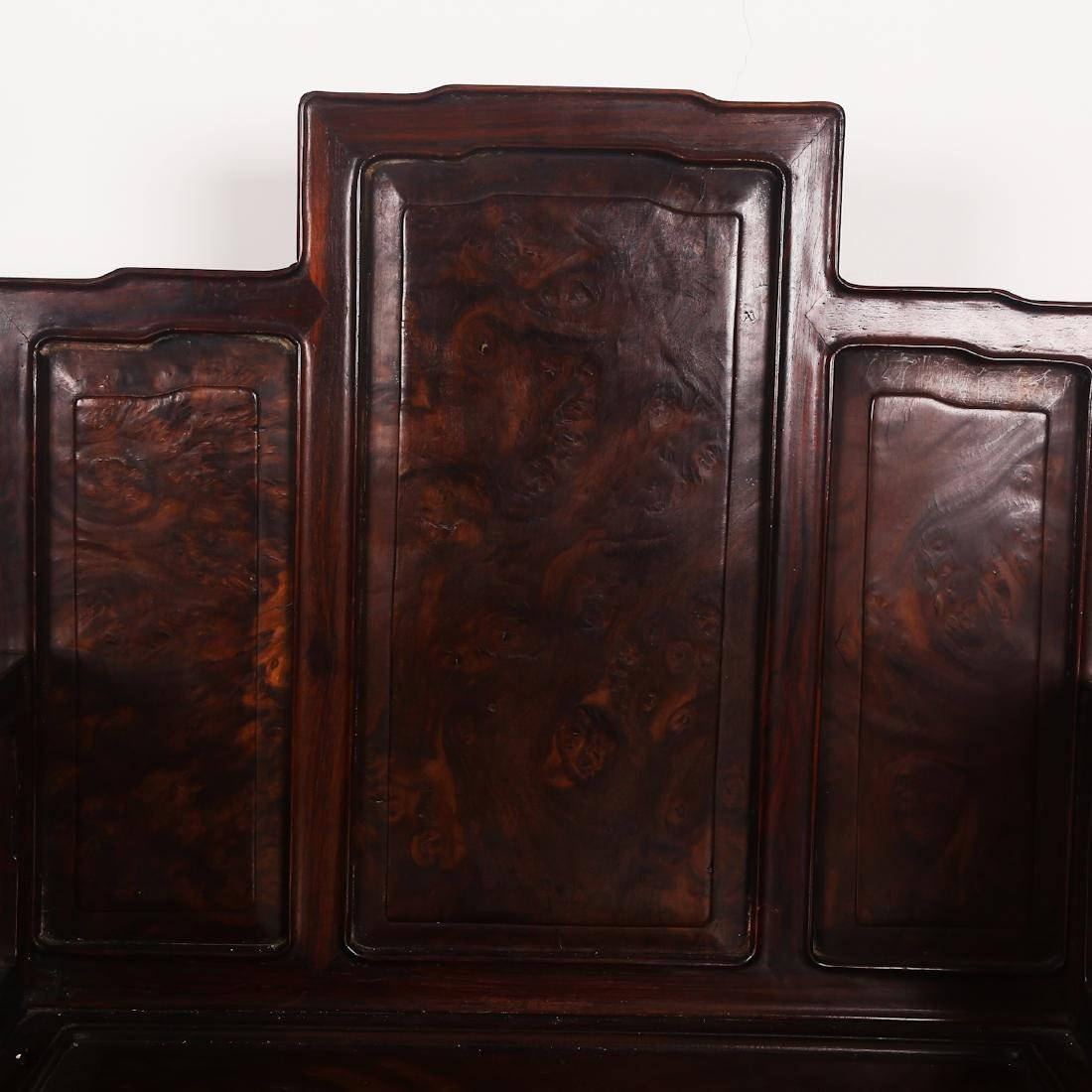 CHINESE ROSEWOOD CHAIR SET - 4