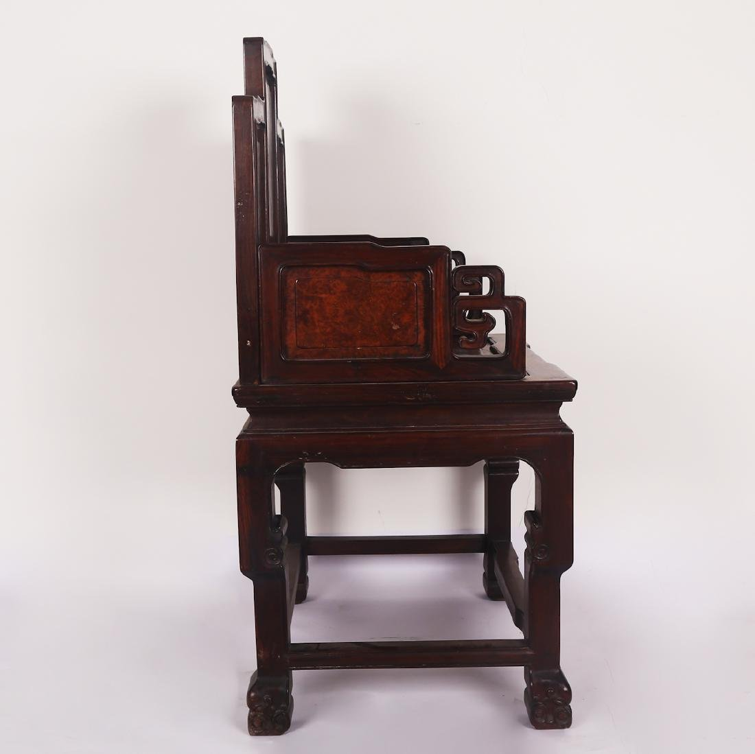 CHINESE ROSEWOOD CHAIR SET - 8