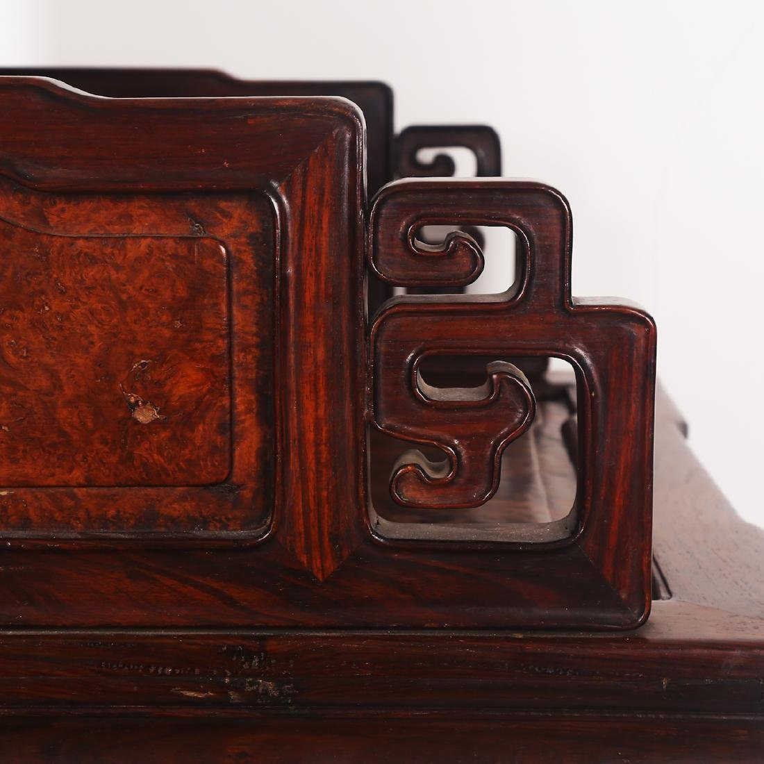 CHINESE ROSEWOOD CHAIR SET - 9