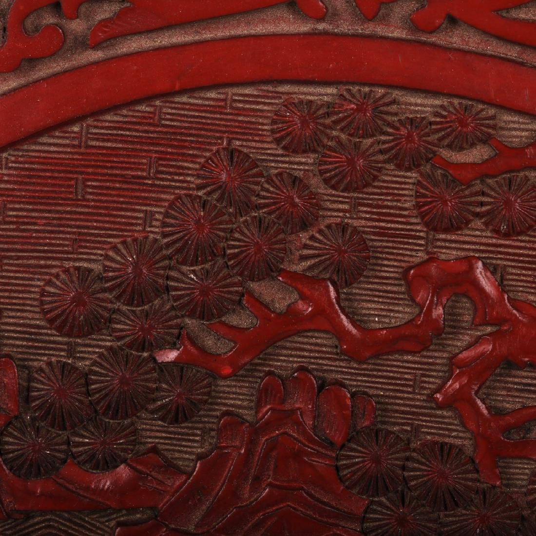 CHINESE CINNABAR LACQUER CHARGER - 5