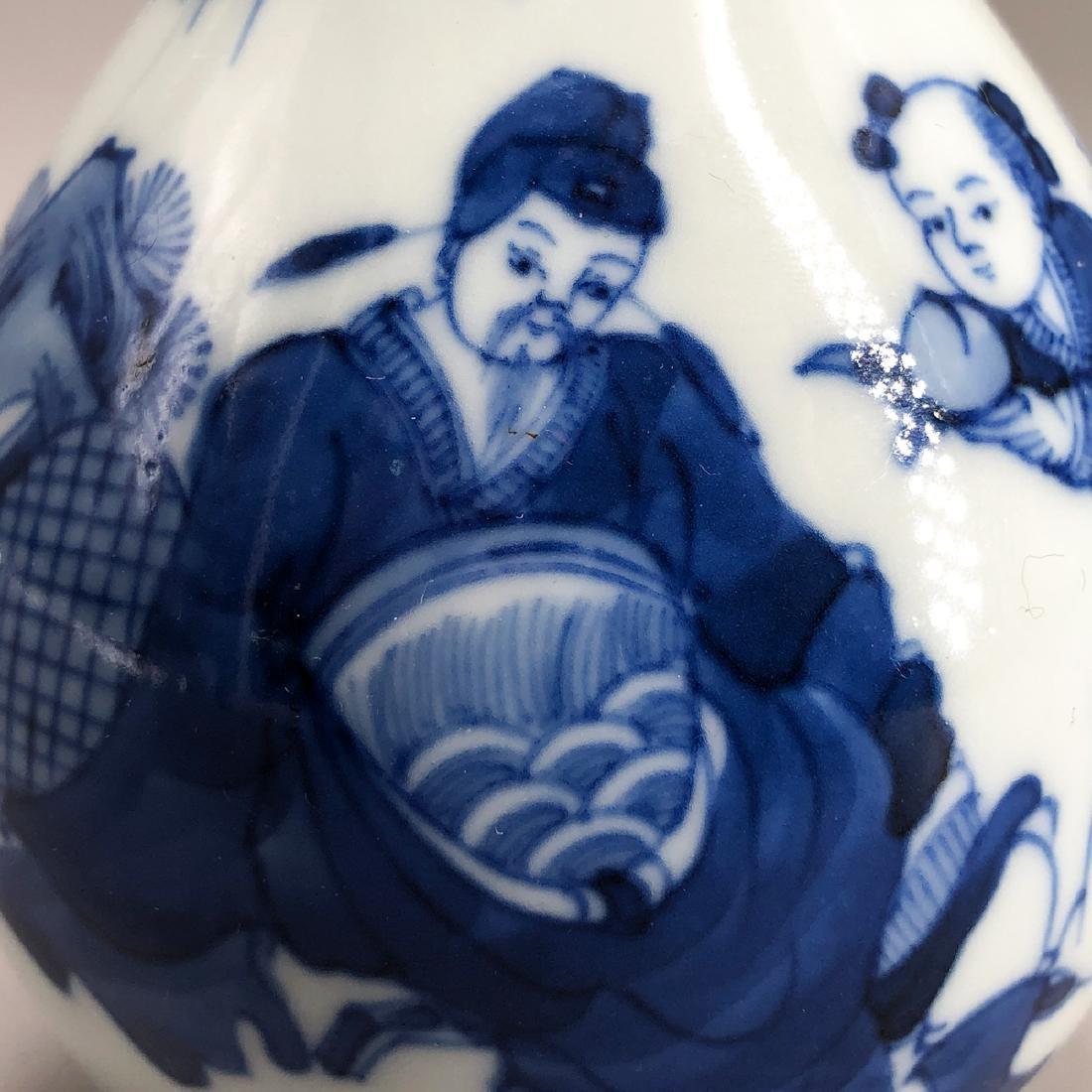 CHINESE BLUE WHITE PORCELAIN VASE - 2