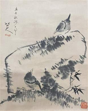 A CHINESE BIRDS PAINTING BA DA SHANREN MARK