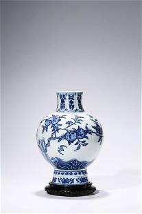 Chinese Blue White Porcelain Vase, Marked