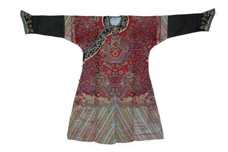 Chinese Red Nasha Dragon Robe