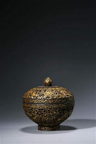 Chinese Tibetan Metal Cover Bowl