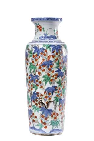 Chinese Large Wucai Porcelain Vase