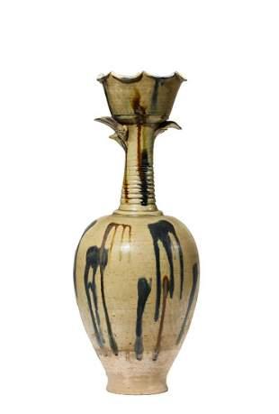 Chinese Sancai Style Earthenware Vase