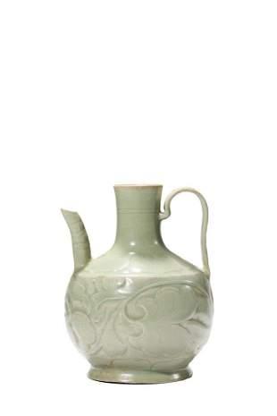 Chinese Yaozhou Glazed Porcelain Tea Pot