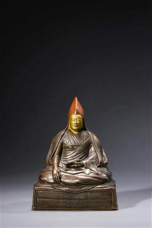 Chinese Bronze Figurine Of Dalai Lama