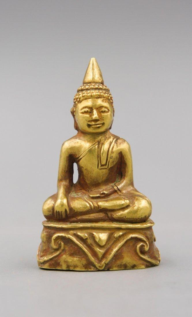 15TH C GOLD THAI BUDDHA