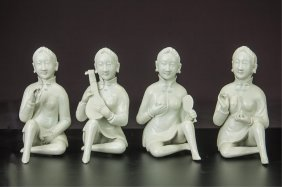 Group Of 4 Chinese Porcelain Figures