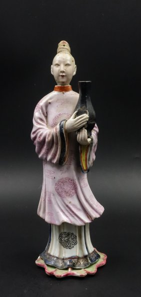 Chinese Famille Rose Figure Of A Lady
