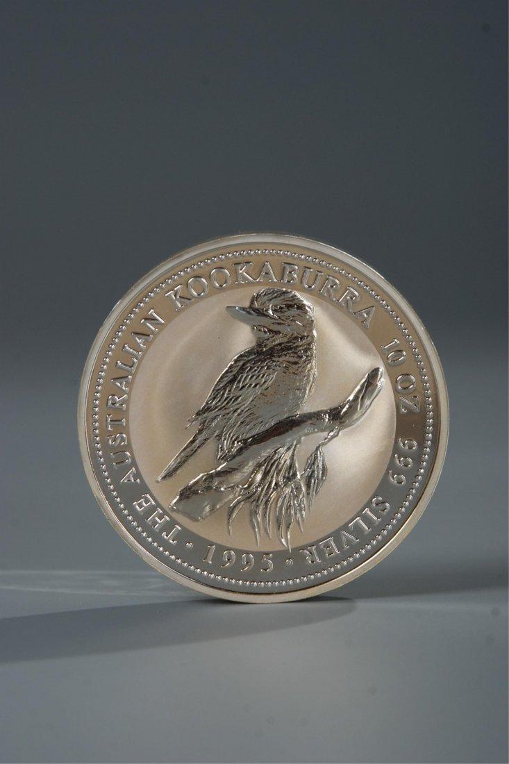 AUSTRALIAN KOOKABURRA 10 OZ 999 SILVER COIN