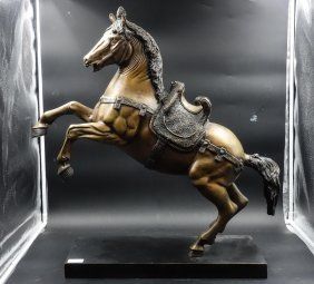 Large 19th Century Bronze Horse