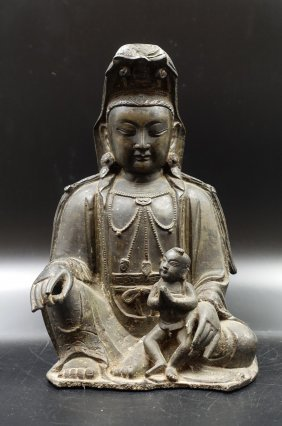 Chinese Ming Dynasty Figure Of Guanyin