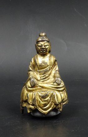 Chinese Tang Dynasty Gilt Bronze Buddha
