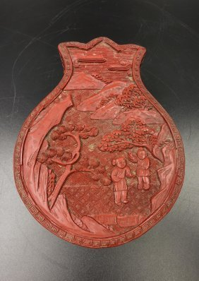 Chinese Cinnabar Lacquer Pomegranate Cover Box