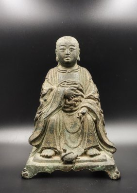Chinese Ming Dynasty Bronze Figure Of Zhenwu Dadi